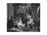 The Burial of Harold at Waltham Abbey Giclee Print by Frederick Richard Pickersgill