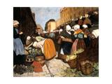 Market in Brest, 1899 Giclee Print by Fernand Piet