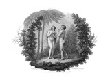 Adam and Eve, 1796 Giclee Print by Francesco Bartolozzi