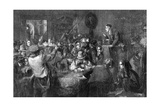 The Auction, Last Day of the Sale, the International Exhibition, 1862 Giclee Print by George Bernard O'neill