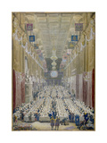 View of the Lord Mayor's Dinner at the Guildhall, City of London, 1828 Giclee Print by George Scharf