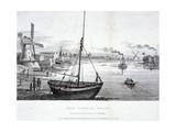 Vauxhall Bridge, London, 1829 Giclee Print by FV Martens