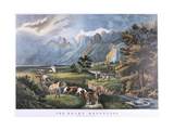 The Rocky Mountains, C1834-C1876 Giclee Print by Frances Flora Bond Palmer