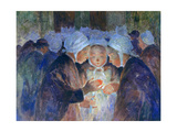 Young People from Breton before a Procession, C1884-1930 Giclee Print by Fernand Loyen du Puigaudeau