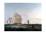 Merchantmen and Other Shipping in the English Channel, 19th Century Giclee Print by George Chambers