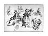 Diverse Figures, C1720-1770 Giclee Print by François Boucher