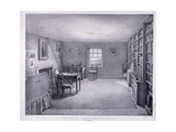 Samuel Taylor Coleridge's Study in Highgate, Haringey, London, C1835 Giclee Print by George Scharf