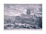 Southwark Cathedral, London, 1830 Giclee Print by George Scharf