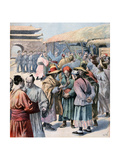 Disturbances in Seoul, Korea, 1894 Giclee Print by Frederic Lix