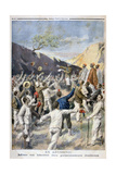 Setting Free of the Italian Prisoners, Abyssinia, 1896 Giclee Print by F Meaulle