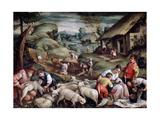 Summer. Sheep Shearing, C1570-C1580 Giclée-tryk af Francesco Bassano