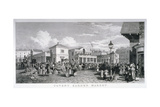 Covent Garden Market, Westminster, London, 1827 Giclee Print by Frederick James Havell