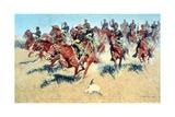 On the Southern Plains, 1907 Giclee-trykk av Frederic Remington