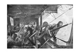 On Board a Zeppelin, German Air Fleet, First World War, 1917 Giclee Print by Felix Schwormstadt