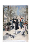 Heatwave in Paris, 1895 Giclee Print by F Meaulle