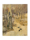 Woods Covered with Snow, 19th Century Giclee Print by Frits Thaulow
