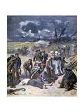 A Storm at Calais, France, 1893 Giclee Print by Frederic Lix
