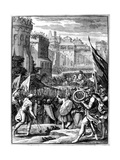 Forces under Alaric I, King of the Visigoths from 395, Sacking Rome, 410 (165) Giclee Print by Francois Chauveau