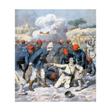 Death of Lieutenant Lecerf, Battle of Napa, Nigeria, 1894 Giclee Print by Frederic Lix