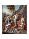 Sisygambis...Mistakes Hephistion for Alexander the Great, 18th Century Giclee Print by Francesco de Mura