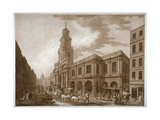 The Royal Exchange, City of London, 1788 Giclee Print by Francesco Bartolozzi