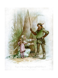 Flight of Queen Margaret and Prince Edward, 1897 Giclee Print by Frances Brundage