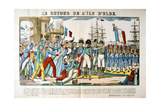 The Return of Napoleon from the Isle of Elba, 26 February 1815 Giclee Print by Francois Georgin