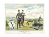 Sending a Semaphore Signal Using Flags, C1880 Giclee Print by Geoffrey Douglas Giles