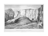 Approach to the Tombs of the Kings at Thebes, 19th Century Giclee Print by George Barnard