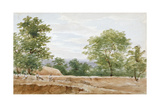 View from the Excavations of Highgate Tunnel, London, 1812 Giclee Print by George Arnald