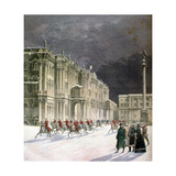 Winter Palace, Saint Petersburg, Russia, 1891 Giclee Print by F Meaulle