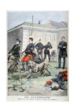 Training Army Dogs to Attack Cyclists, Germany, 1897 Giclee Print by F Meaulle