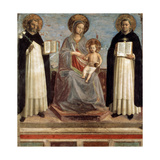 Virgin and Child with Saints Dominicus and Thomas Aquinas, 1424-1430 Giclee Print by  Fra Angelico