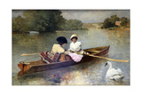 Boating on the Seine, 1875-1876 Giclee Print by Ferdinand Heilbuth