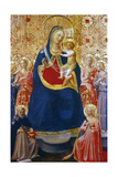 Madonna and Child with Saints, Mid 15th Century Giclee Print by  Fra Angelico