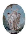 The Three Graces, C1725-1770 Giclee Print by François Boucher