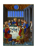 Representation of 'The Last Supper' on Enamelled Copper, 16th Century Giclee Print by Franz Kellerhoven