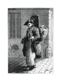 Travelling Musician Giclee Print by Francois-Robert Ingouf