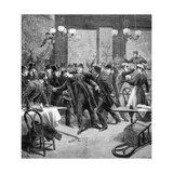 Attack Against M Georgewitch, Minister of Serbia in Paris 1893 Giclee Print by Frederic Lix