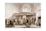 Interior View of Guildhall Chapel, City of London, 1817 Giclee Print by George Jones