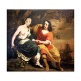 Bacchus and Ariadne, 1664 Giclee Print by Ferdinand Bol