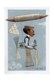 Alberto Santos-Dumont, Brazilian Aviation Pioneer, 1901 Giclee Print by George Hum