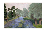 Landscape in the Normandy, Arques-La-Bataille, 1903 Giclee Print by Félix Vallotton