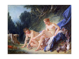Diana Getting Out of Her Bath, 1742 Giclee Print by François Boucher