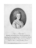 Marie Antoinette, Queen Consort of Louis XVI of France, 1790 Giclee Print by Francesco Bartolozzi