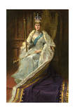Mary of Teck, Queen Consort of George V of the United Kingdom, 1911 Giclee Print by George C Wilmshurst