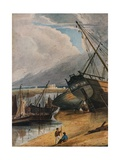 Shipping at Deal, 1925 Giclee Print by Francois Louis Thomas Francia