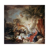 Rest on the Flight into Egypt, 1757 Giclee Print by François Boucher