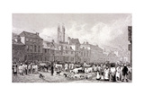 Smithfield Market, London, C1830 Giclee Print by George Cooke