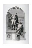 Monument to Thomas Guy at Guy's Hospital, Southwark, London, C1784 Giclee Print by Francesco Bartolozzi